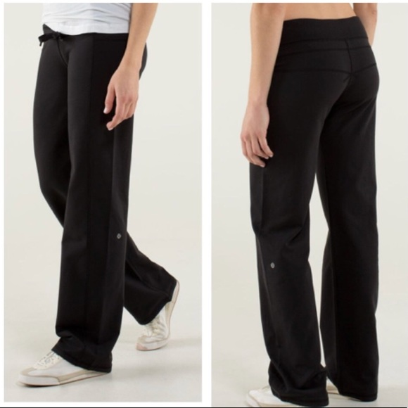 0513ba3daa lululemon athletica Pants - Lululemon Calm and Cozy Black Sweatpants Size 8